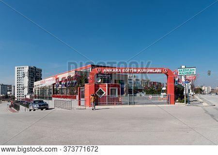 Ankara / Turkey - March 21 2020: Ankara Egitim Kurumlari Is One Of The Newest And Most Known Private