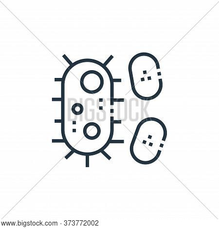 bacteria icon isolated on white background from medical services collection. bacteria icon trendy an
