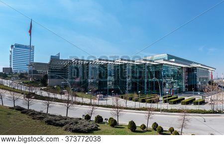 Ankara / Turkey - March 21 2020: Ato Congressium, Ankara Ticaret Odası Congressium Is One Of The Big