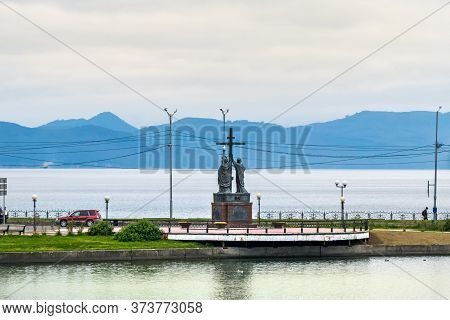 Petropavlovsk, Russia - September 16, 2019: Panoramic View Of The Peter And Paul Monument In Petropa