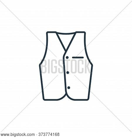 Vest Vector Icon From Clothes And Outfit Collection Isolated On White Background