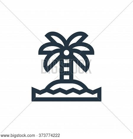 island icon isolated on white background from hippies collection. island icon trendy and modern isla