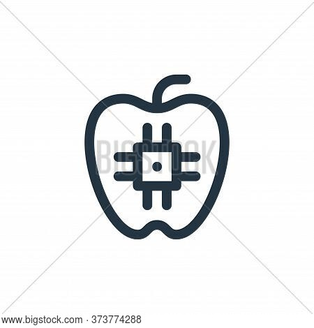 food icon isolated on white background from technology of the future collection. food icon trendy an