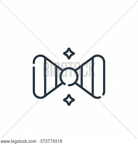 bow tie icon isolated on white background from circus collection. bow tie icon trendy and modern bow