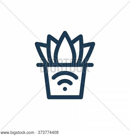 smart farm icon isolated on white background from internet of things collection. smart farm icon tre