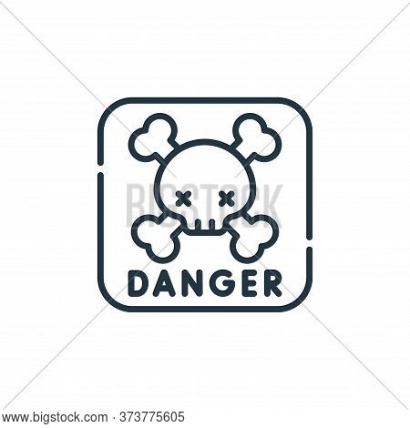 danger sign icon isolated on white background from electrician tools and elements collection. danger