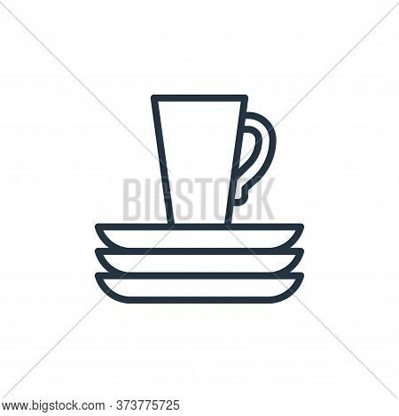 dishware icon isolated on white background from recycling collection. dishware icon trendy and moder