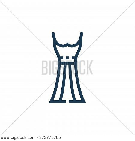 dress icon isolated on white background from clothes and apparel collection. dress icon trendy and m