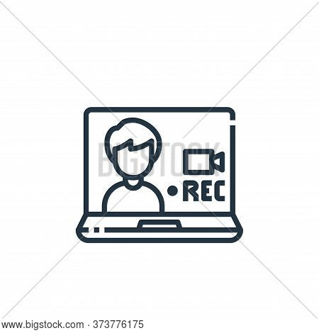 recording icon isolated on white background from working from home collection. recording icon trendy