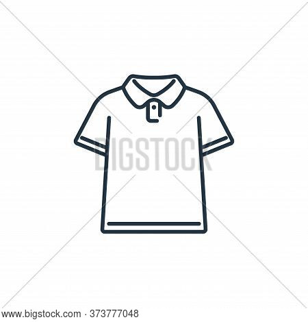 polo shirt icon isolated on white background from clothes and outfit collection. polo shirt icon tre
