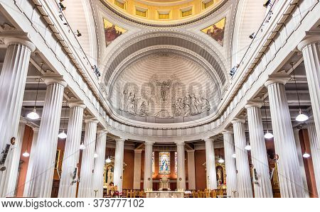 Dublin, Ireland - July 29th, 2019: Interior Of The St Marys Pro Cathedral In Dublin, Ireland.