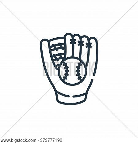baseball glove icon isolated on white background from baseball collection. baseball glove icon trend