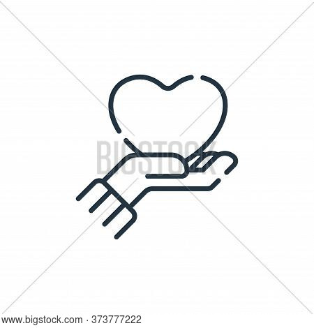 love icon isolated on white background from hope collection. love icon trendy and modern love symbol