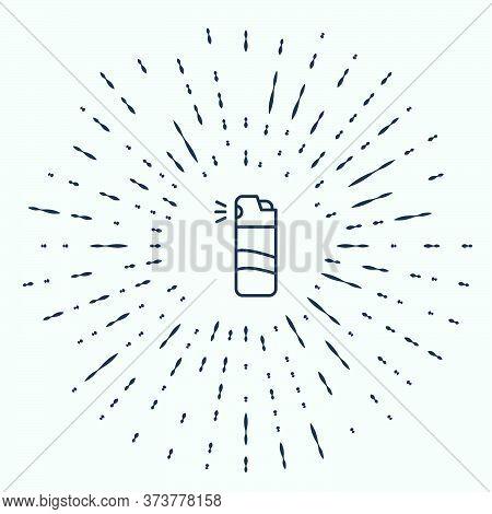 Black Line Pepper Spray Icon Isolated On Grey Background. Oc Gas. Capsicum Self Defense Aerosol. Abs