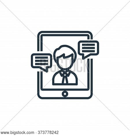 video calling icon isolated on white background from working from home collection. video calling ico