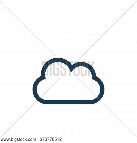 cloud computing icon isolated on white background from web essentials collection. cloud computing ic