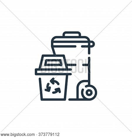 trash icon isolated on white background from cleaning collection. trash icon trendy and modern trash