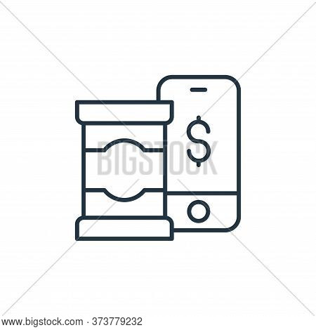smartphone payment icon isolated on white background from ecommerce collection. smartphone payment i