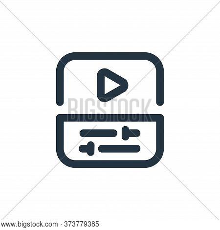 video editing icon isolated on white background from video collection. video editing icon trendy and
