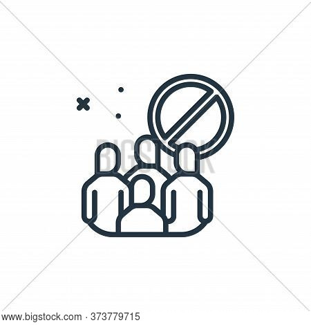 no group icon isolated on white background from virus restrictions collection. no group icon trendy