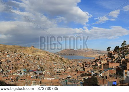 The City Of Puno On Lake Titicaca