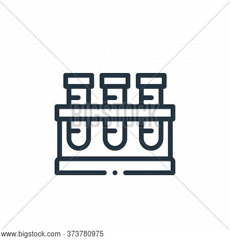 test tubes icon isolated on white background from medicine collection. test tubes icon trendy and mo