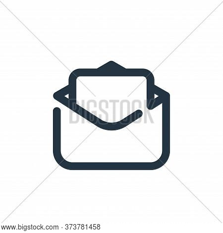 mail icon isolated on white background from seo collection. mail icon trendy and modern mail symbol