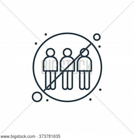 no group icon isolated on white background from coronavirus collection. no group icon trendy and mod