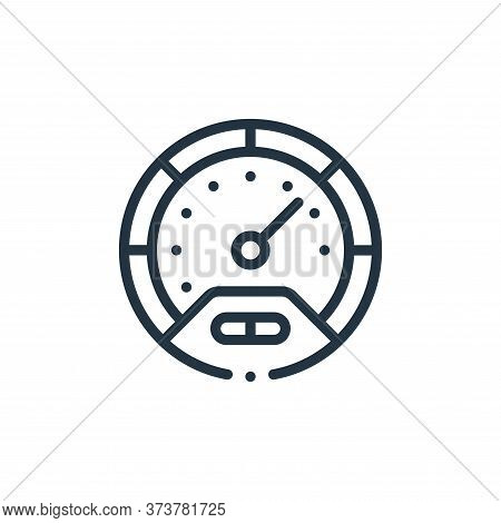 speedometer icon isolated on white background from autoracing collection. speedometer icon trendy an