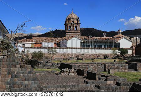 Inca Ruins In The City Of Cusco