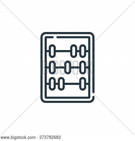 abacus icon isolated on white background from children toys collection. abacus icon trendy and moder
