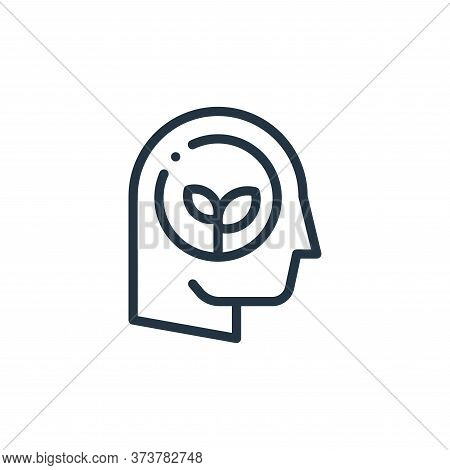 think icon isolated on white background from ecology collection. think icon trendy and modern think