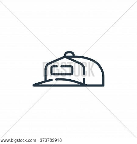 cap icon isolated on white background from auto racing collection. cap icon trendy and modern cap sy