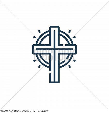 cross icon isolated on white background from mexico collection. cross icon trendy and modern cross s
