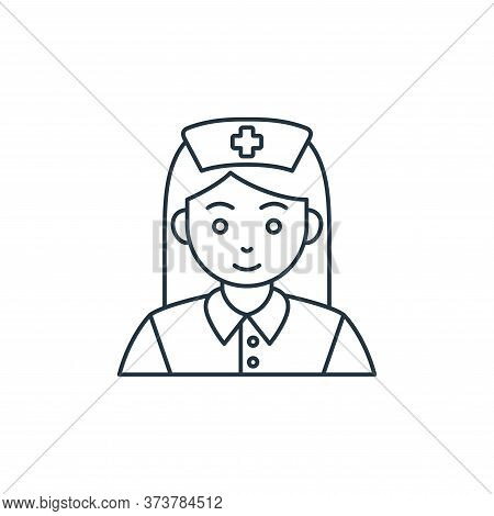 nurse icon isolated on white background from coronavirus covid collection. nurse icon trendy and mod