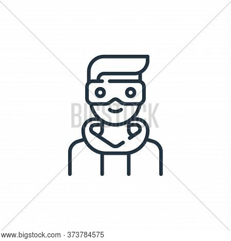 man icon isolated on white background from technology of the future collection. man icon trendy and
