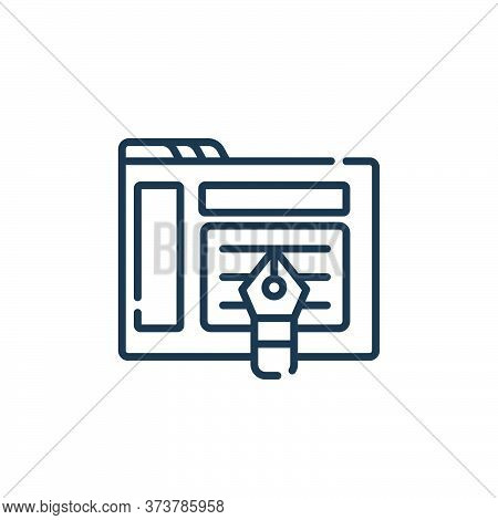 design icon isolated on white background from web development collection. design icon trendy and mod