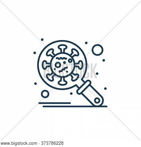 research icon isolated on white background from coronavirus collection. research icon trendy and mod