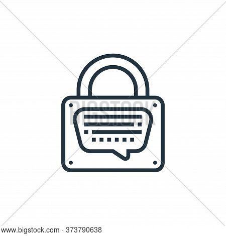 record icon isolated on white background from confidential information collection. record icon trend