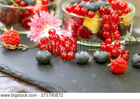 Healthy Food, Healthy Eating, Organic Currant And Blueberry