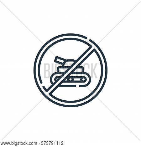 stop icon isolated on white background from hippies collection. stop icon trendy and modern stop sym