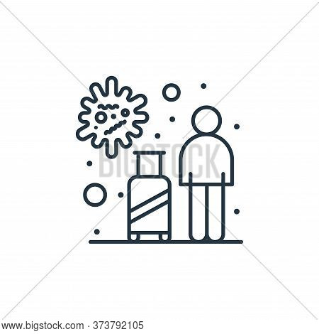 tourist icon isolated on white background from coronavirus collection. tourist icon trendy and moder