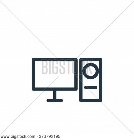 computer icon isolated on white background from technology collection. computer icon trendy and mode