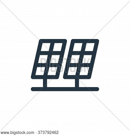 solar panels icon isolated on white background from climate change collection. solar panels icon tre