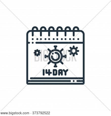 calendar icon isolated on white background from virus transmission collection. calendar icon trendy