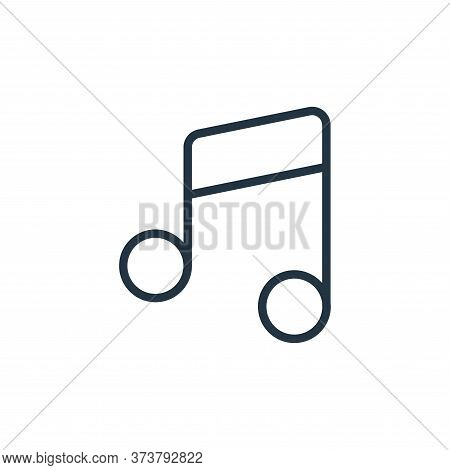 music notes icon isolated on white background from music instruments collection. music notes icon tr