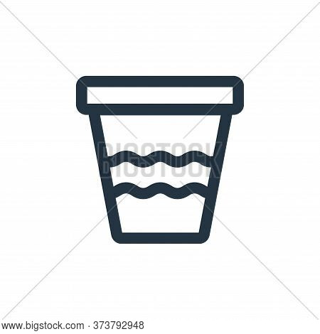 pot icon isolated on white background from landscaping equipment collection. pot icon trendy and mod