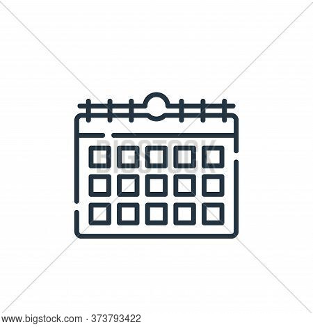calendar icon isolated on white background from hygiene routine collection. calendar icon trendy and