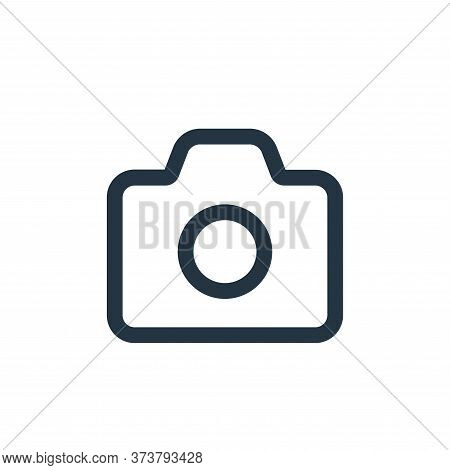 camera icon isolated on white background from interface collection. camera icon trendy and modern ca