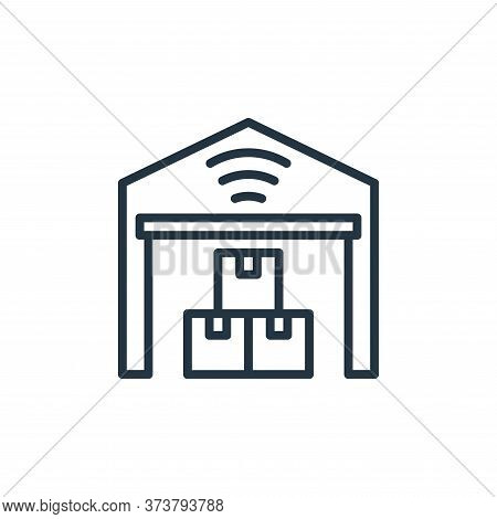 warehouse icon isolated on white background from internet of things collection. warehouse icon trend